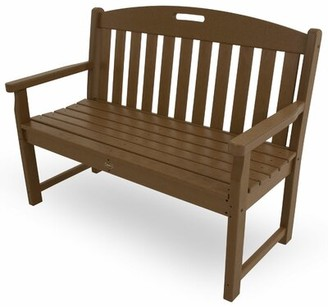 """Trex Outdoor Yacht Club Garden Bench Size: 36"""" H x 48"""" W x 24.5"""" D, Color: Tree House"""