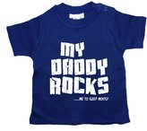 Dirty Fingers, My Daddy Rocks....me to sleep mostly, Baby T-shirt, 18-24m, Blue