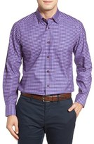 David Donahue Men's Check Sport Shirt