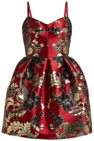 Dolce & Gabbana Floral And Leopard-brocade Mini Dress - Womens - Multi