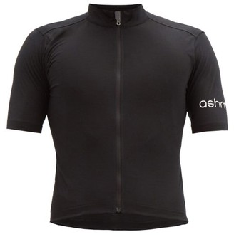 Ashmei - Logo-print Wool-blend Cycling Top - Black