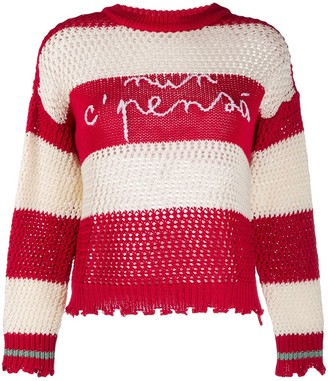 Pinko Striped Logo Jumper
