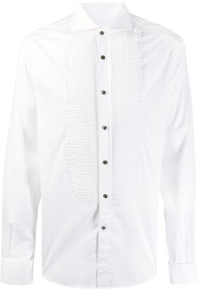 Brunello Cucinelli poplin pintucked shirt
