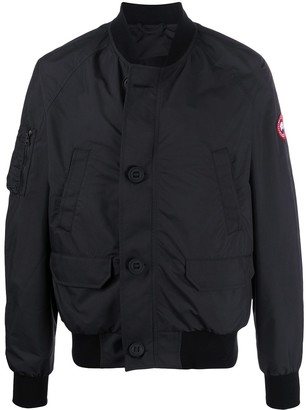 Canada Goose Long Sleeve Button Down Bomber Jacket