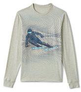 Classic Men's Long Sleeve Graphic Tee-Deep Sea Feeder Stripe