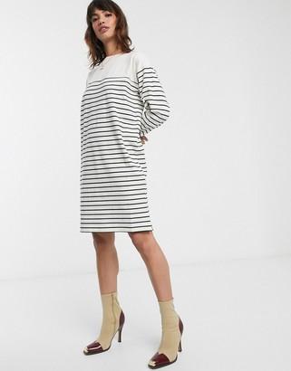 French Connection breton stripe mini dress