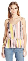 Jessica Simpson Women's Renee Peplum Tank in Blanket Stripe