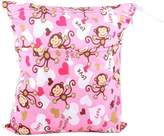 "Panda Superstore Monkey Wet Bags Waterproof Diaper Bag Multi-function Nappy Bag -14""*11"""