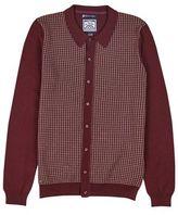 Burton Burton Le Shark Burgundy Knitted Cardigan*