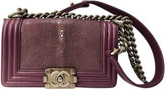 Chanel Boy Purple Stingray Handbags