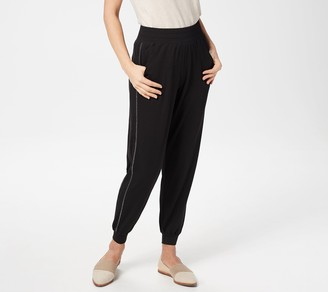 Quacker Factory Anytime Petite Pull-On Jogger Pants