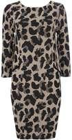 Animal Print Jacquard Tunic Dress