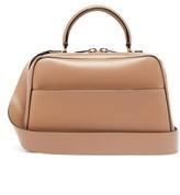 Valextra Serie S Medium Smooth-leather Shoulder Bag - Womens - Grey