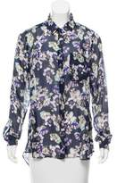 Marissa Webb Floral Chiffon Blouse