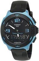 Tissot Men's 'T racing' Swiss Quartz Metal and Silicone Dress Watch, Color:Black (Model: T0814209705704)