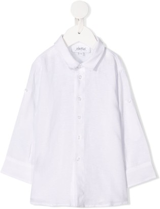 Aletta Pointed Collar Linen Shirt