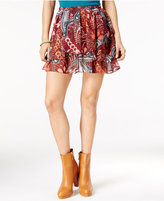 In Awe of You by Awesomeness TV Juniors' Printed A-Line Mini Skirt