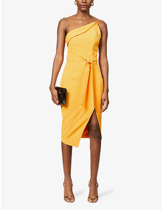 Lavish Alice Asymmetric crepe midi dress