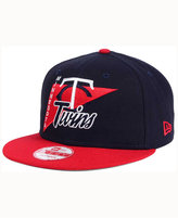 New Era Minnesota Twins Logo Stacker 9FIFTY Snapback Cap