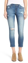 Vigoss Women's Chelsea Distressed Crop Skinny Jeans