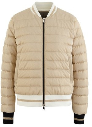 Moncler Metallic down jacket