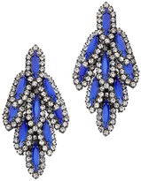 Elizabeth Cole Bacall Blue Embellished Earrings