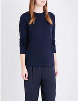 Vince Crewneck cotton and cashmere-blend top