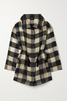Akris Checked Mulberry Silk-organza Jacquard Jacket - Black