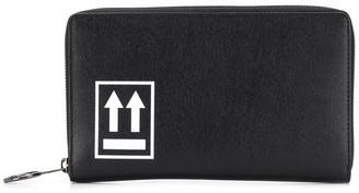 Off-White logo zipped wallet