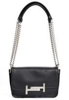 Tod's Mini Double-T Leather Shoulder Bag - Black