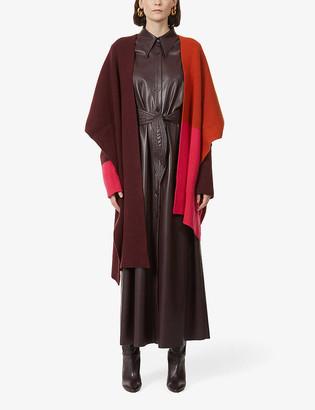 Roksanda Noa asymmetric wool cape