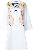 Emilio Pucci embroidered lace-up dress