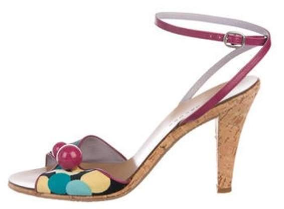 d566ea821404e Leather Ankle Strap Sandals multicolor Leather Ankle Strap Sandals