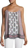 Soft Joie Sparkle C Floral-Print Tank Top, White/Red