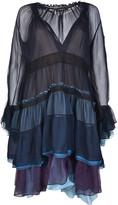 Chloé Chloé Tiered Color Block Dress