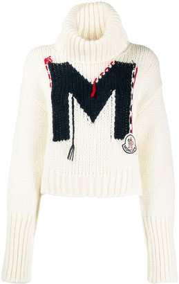 Moncler intarsia M cropped sweater