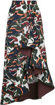 Dion Lee artillery drape camouflage print skirt