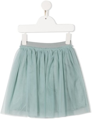 Il Gufo Elasticated Tulle Mini Skirt