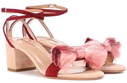 Aquazzura Lotus Blossom 50 suede sandals
