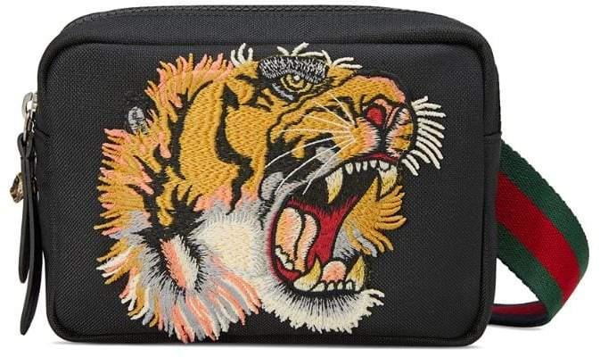 Gucci Shoulder bag with panther face appliqué