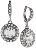 Givenchy Hematite-Tone Crystal and Pavé Halo Drop Earrings