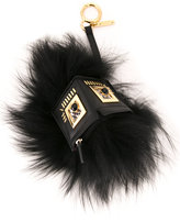 Fendi Monster keyring - women - Calf Leather/Fox Fur - One Size