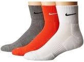 Nike Dri-FIT Cushion Quarter 3 Pack Quarter Length Socks Shoes