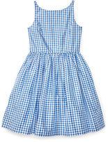 Ralph Lauren Gingham Silk Taffeta Dress
