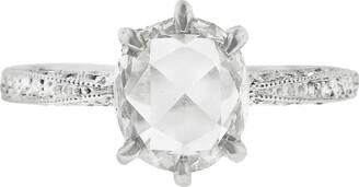 Cathy Waterman Rose Cut Diamond Platinum Band Ring
