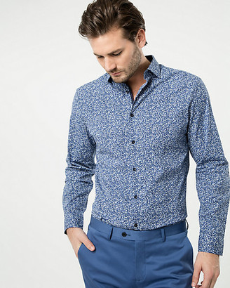 Le Château Printed Cotton Blend Tailored Fit Shirt