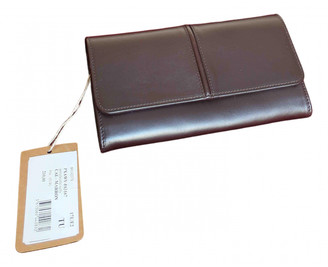 A.P.C. Brown Leather Wallets