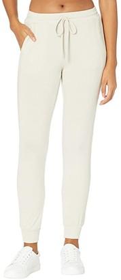 Michael Stars Madison Brushed Jersey Jenny Joggers (Heather Grey) Women's Casual Pants