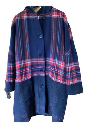 Etoile Isabel Marant Blue Wool Coats
