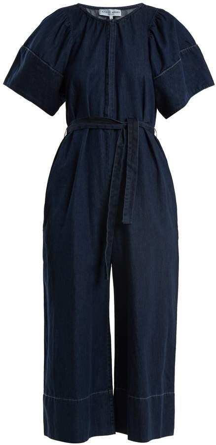 Apiece Apart Soleil waist-tie cotton-chambray jumpsuit